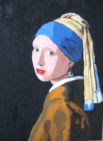"""Ragazza con l'orecchino di perla """" del 1665-1666 c."""